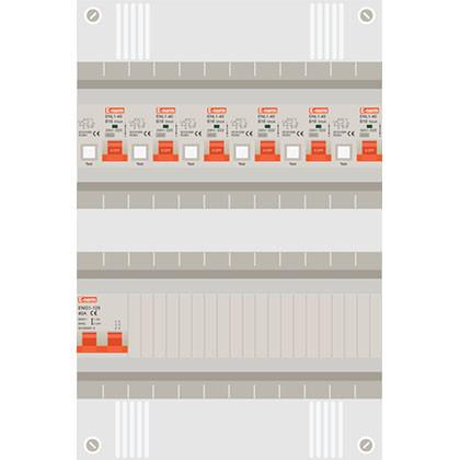 1 fase groepenkast met aardlekautomaten