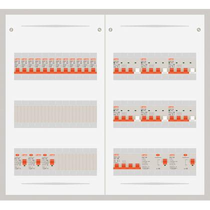 3 fase veldverdelers met licht en krachtgroepen 63A