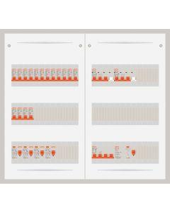 3 fase bedrijfsverdeler 40A met 16 lichtgroepen en 2 krachtgroepen