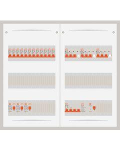 3 fase bedrijfsverdeler 63A met 12 lichtgroepen en 3 krachtgroepen