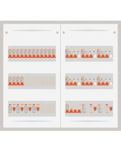 3 fase bedrijfsverdeler 63A met 16 lichtgroepen en 6 krachtgroepen