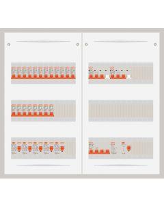 3 fase bedrijfsverdeler 63A met 20 lichtgroepen en 2 krachtgroepen