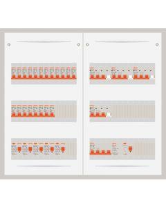 3 fase bedrijfsverdeler 63A met 20 lichtgroepen en 4 krachtgroepen