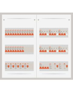 3 fase bedrijfsverdeler 63A met 20 lichtgroepen en 6 krachtgroepen
