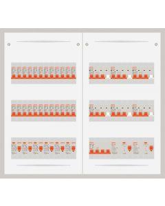 3 fase bedrijfsverdeler 63A met 24 lichtgroepen en 6 krachtgroepen