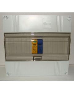 Overspanningsbeveiliging 1p+n in 12 modulen kast met buisinvoer