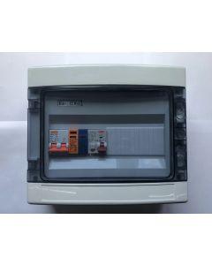 1 fase groepenkast met 1 aardlekautomaat 10A-B + overspaninningsbeveiliging