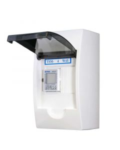 1 fase LCD modulaire kWh meter 100a in 4 modulen kast