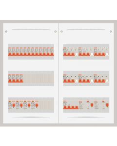 3 fase bedrijfsverdeler 40A met 16 lichtgroepen en 6 krachtgroepen