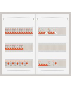 3 fase bedrijfsverdeler 40A met 20 lichtgroepen en 2 krachtgroepen