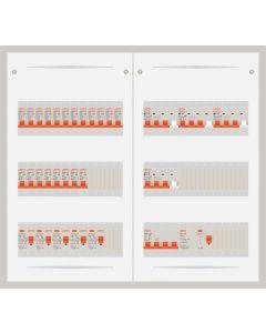 3 fase bedrijfsverdeler 40A met 20 lichtgroepen en 4 krachtgroepen