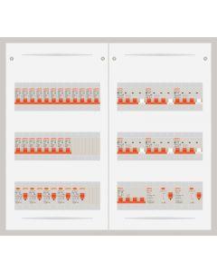 3 fase bedrijfsverdeler 40A met 20 lichtgroepen en 6 krachtgroepen