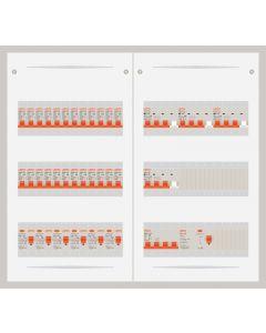 3 fase bedrijfsverdeler 40A met 24 lichtgroepen en 4 krachtgroepen