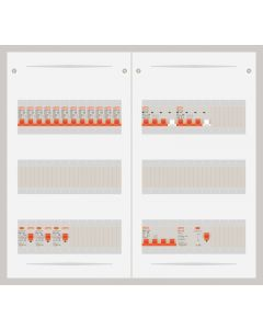 3 fase bedrijfsverdeler 63A met 12 lichtgroepen en 2 krachtgroepen