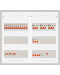 3 fase bedrijfsverdeler 63A met 12 lichtgroepen en 4 krachtgroepen