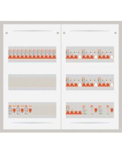 3 fase bedrijfsverdeler 63A met 12 lichtgroepen en 6 krachtgroepen