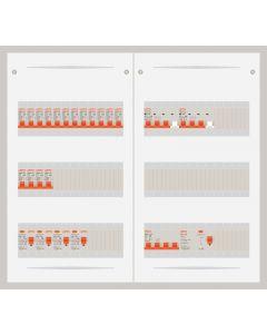 3 fase bedrijfsverdeler 63A met 16 lichtgroepen en 2 krachtgroepen