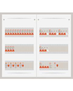 3 fase bedrijfsverdeler 63A met 16 lichtgroepen en 4 krachtgroepen