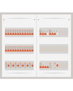 3 fase bedrijfsverdeler 63A met 24 lichtgroepen en 2 krachtgroepen