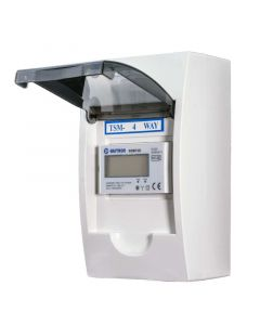 3 fase LCD modulaire kWh meter 100a in 4 modulen kast