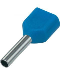 Blauw 2x16mm2 lengte 14mm 100 stuks