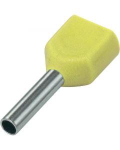 Geel 2x6mm2 lengte 14mm 100 stuks
