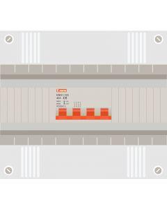 Hoofdschakelaar 4p 63a in 12 modulen kast met buisinvoer